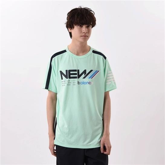 (NB公式アウトレット)【44%OFF】 メンズ NBRC ショートスリーブ Tシャツ (グリーン) ランニング スポーツウェア / トップス シャツ ランシャツ ニューバランス newbalance セール