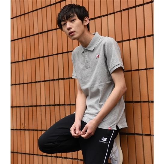 (NB公式アウトレット)【60%OFF】 メンズ ピケポロシャツ (グレー) ライフスタイル ウェア / トップス ニューバランス newbalance セール