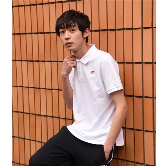 (NB公式アウトレット)【60%OFF】 メンズ ピケポロシャツ (ホワイト) ライフスタイル ウェア / トップス ニューバランス newbalance セール