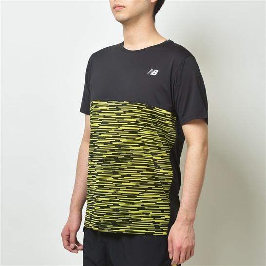(NB公式アウトレット)【60%OFF】 メンズ NB Hanzo ショートスリーブグラフィックTシャツ (イエロー) ランニング スポーツウェア / トップス シャツ ランシャツ ニューバランス newbalance セール