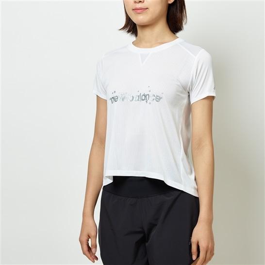 (NB公式アウトレット)【60%OFF】 ウイメンズ STAR PACK インパクトランメッシュTシャツ (ホワイト) ランニング スポーツウェア / トップス シャツ ランシャツ ニューバランス newbalance セール