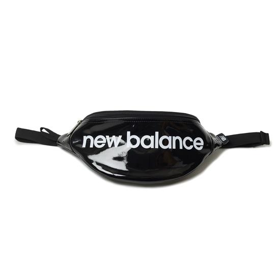 (NB公式アウトレット)【30%OFF】 ユニセックス エナメルウエストポーチ (ブラック) バッグ 鞄 ニューバランス newbalance セール