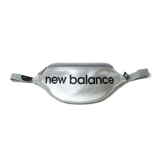 (NB公式アウトレット)【30%OFF】 ユニセックス エナメルウエストポーチ (シルバー) バッグ 鞄 ニューバランス newbalance セール