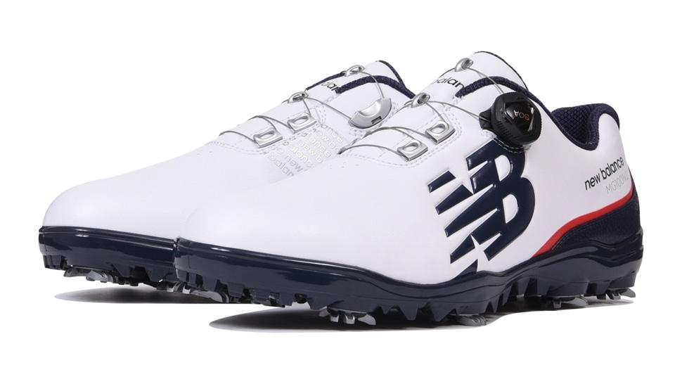 (NB公式アウトレット)【30%OFF】 メンズ MG1001 T2 (ホワイト) ゴルフ スパイク シューズ 靴 ニューバランス newbalance セール