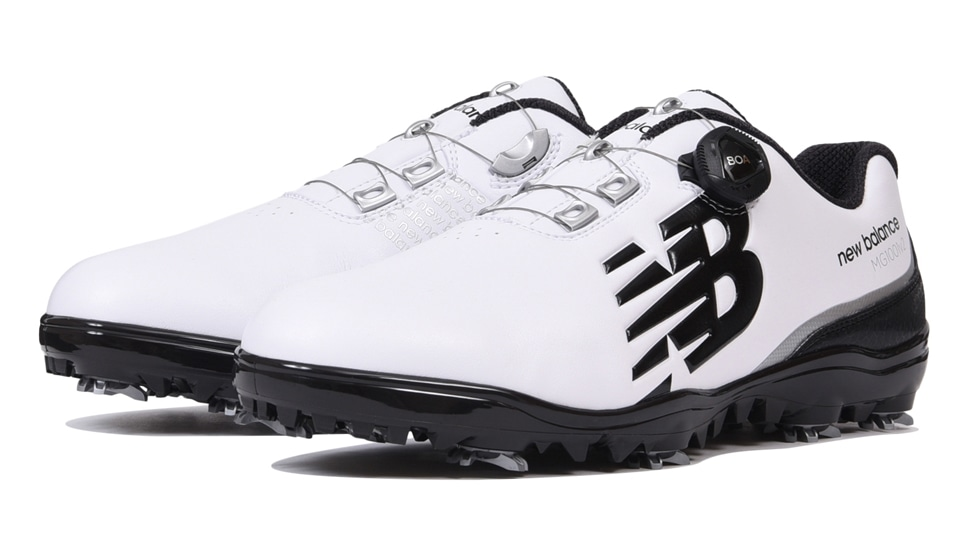 (NB公式アウトレット)【30%OFF】 メンズ MG1001 W2 (ホワイト) ゴルフ スパイク シューズ 靴 ニューバランス newbalance セール