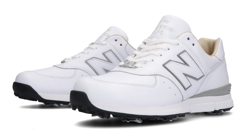 (NB公式アウトレット)【40%OFF】 メンズ MGL574 WT (ホワイト) ゴルフ スパイク シューズ 靴 ニューバランス newbalance セール