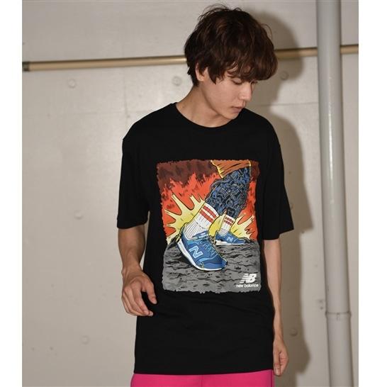 (NB公式アウトレット)【60%OFF】 メンズ アーティストパックストライドTシャツ (ブラック) ライフスタイル ウェア / トップス ニューバランス newbalance セール