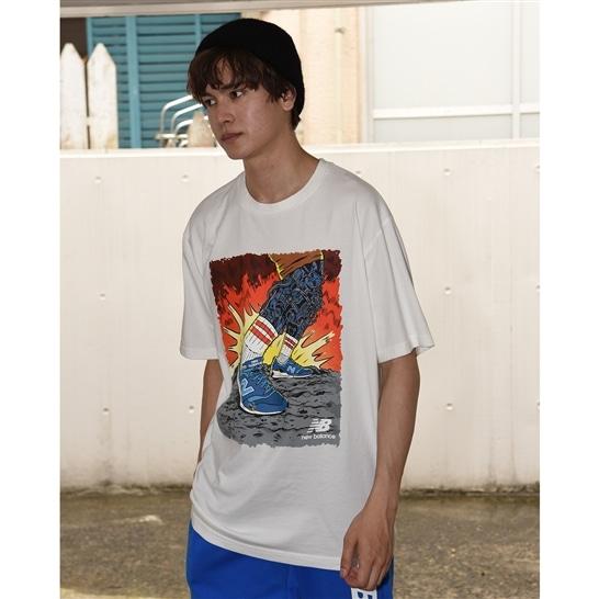 (NB公式アウトレット)【60%OFF】 メンズ アーティストパックストライドTシャツ (ホワイト) ライフスタイル ウェア / トップス ニューバランス newbalance セール