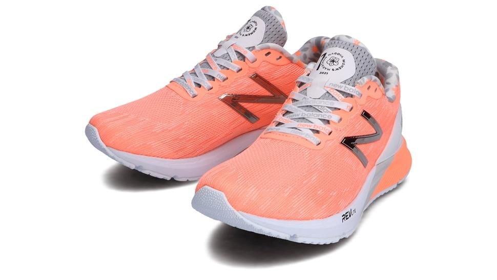 (NB公式アウトレット)【30%OFF】 ウイメンズ NB HANZO U W N3 (ピンク) ランニングシューズ 靴 ニューバランス newbalance セール