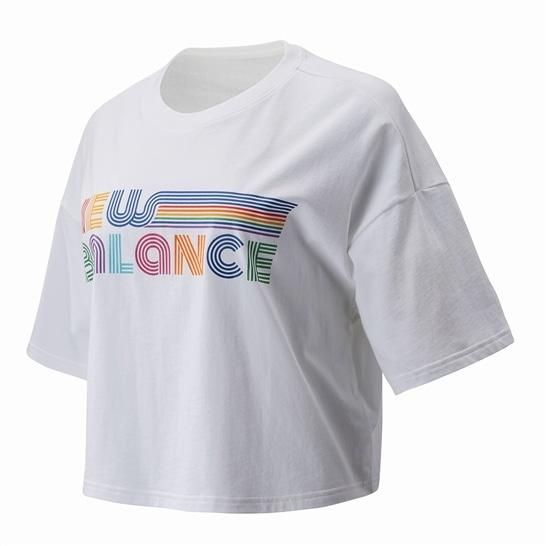 (NB公式アウトレット)【50%OFF】 ウイメンズ NB プライドTシャツ (ホワイト) ライフスタイル ウェア / トップス ニューバランス newbalance セール