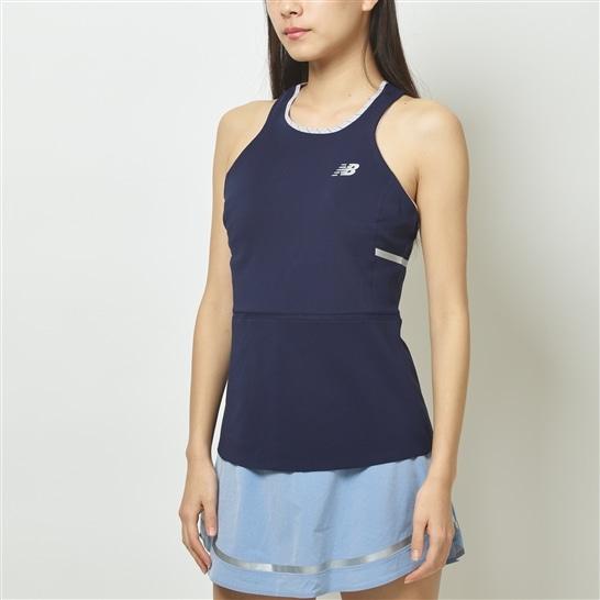 (NB公式アウトレット)【60%OFF】 ウイメンズ New Balance × Gitman SLAMBRAYトーナメントタンク (ブルー) テニス スポーツウェア / トップス ニューバランス newbalance セール