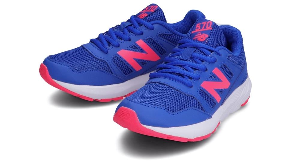 (NB公式アウトレット)【30%OFF】 キッズ YK570 BP2 (ブルー) ランニングシューズ 靴 ニューバランス newbalance セール
