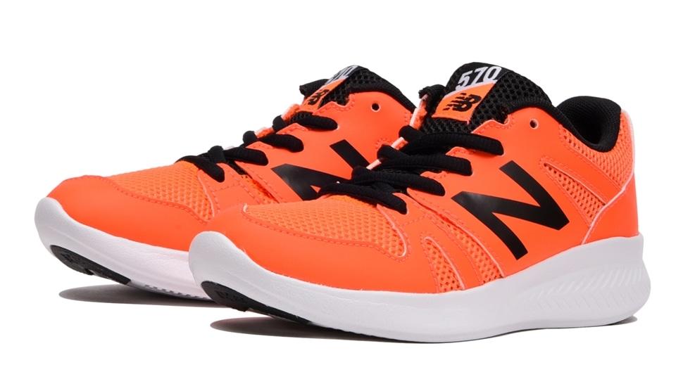 (NB公式アウトレット)【40%OFF】 キッズ YK570 GB (オレンジ) ランニングシューズ 靴 ニューバランス newbalance セール
